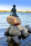 丹麦-西兰地区-哥本哈根-小梅尔的雕象 免版税库存照片