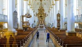 丹麦-西兰地区-哥本哈根-巴洛克式的新教徒特里尼 免版税库存图片