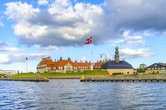 丹麦-西兰地区-哥本哈根-有Chr的军事博物馆 免版税库存图片
