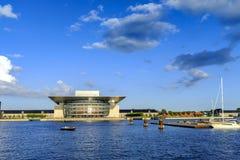 丹麦-西兰地区-哥本哈根- C的现代大厦 免版税库存照片