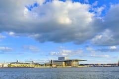 丹麦-西兰地区-哥本哈根- C的现代大厦 图库摄影