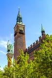 丹麦-西兰地区-哥本哈根- ci的全景 图库摄影