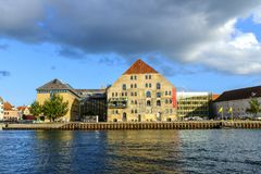 丹麦-西兰地区-哥本哈根- co的全景 免版税库存图片
