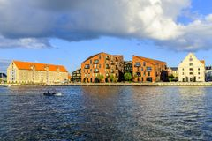 丹麦-西兰地区-哥本哈根- co的全景 库存图片