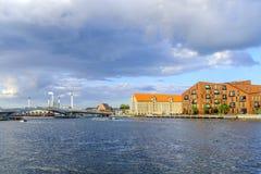 丹麦-西兰地区-哥本哈根- co的全景 免版税库存照片