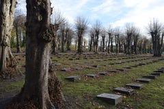 2015年 丹麦 Christiansfeld 墓地 兄弟坟墓 免版税库存图片