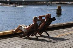 丹麦` WEATHER_Summer热波在丹麦 免版税库存照片