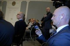 丹麦lars lokke部长最初rasmussen 免版税图库摄影