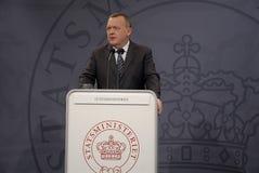 丹麦lars lokke部长最初rasmussen 免版税库存图片