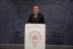丹麦lars lokke部长最初rasmussen 库存图片