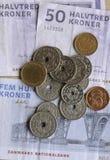 丹麦MONEY_CURRENCY 库存照片