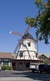 丹麦solvang风车 免版税库存图片