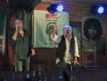 丹McCafferty第70周年生日聚会在码头工人客栈在基辅, 2016年10月09日的乌克兰, 库存图片