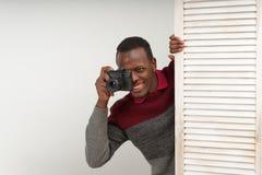 为一个辣场面照相的对应的黑人英俊的人,他有迷人的新闻价值,没有为任何人所知 免版税库存图片