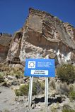 为与动物的图象的古老石洞壁画已知的山谷 库存图片