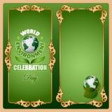 为世界环境日,庆祝设计背景 免版税库存图片