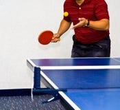 为乒乓球服务 库存图片