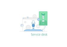 为书桌例证服务 库存图片