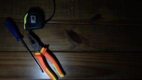 为修理和测量的手工具 免版税库存图片