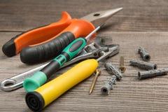为修理和建筑的工具 免版税图库摄影