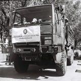 为充斥使用的泰国军用卡车 库存图片