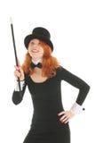 为党打扮的妇女指向  免版税图库摄影