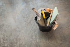 为具体工作的建筑工具 免版税图库摄影