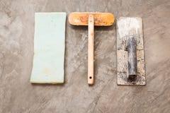 为具体工作的建筑工具 免版税库存图片
