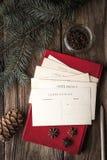 为写圣诞节愿望设置垂直 免版税图库摄影
