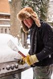 为冬天烹调准备 库存照片