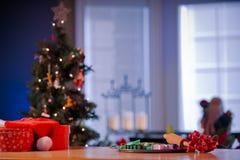 为准备圣诞节的厨台 免版税库存图片