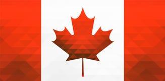 为加拿大导航例证,时髦样式旗子,贺卡,网的天 设计海报的,横幅, flayer模板 免版税库存图片