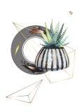 为卡片,邀请,招贴,小册子,飞行物,盖子设计 几何抽象现代样式 免版税库存照片