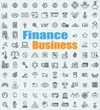 为各种各样的应用设置的100个财务企业象 库存例证