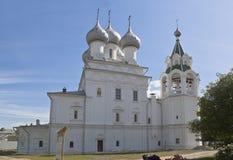 为圣徒沙皇的教会相等与传道者康斯坦丁和埃琳娜在市沃洛格达州 图库摄影