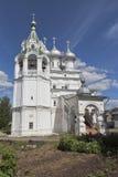 为圣徒沙皇的教会相等与传道者康斯坦丁和埃琳娜在沃洛格达州 库存图片
