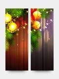 为圣诞快乐设置的网站横幅 库存照片