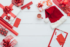 为圣诞节做准备 免版税库存照片