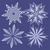 为圣诞节冬天设计设置的雪花 免版税库存图片