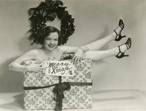 为圣诞节包裹的礼物 库存图片