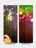 为圣诞节庆祝设置的网横幅 免版税库存照片