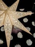 为圣诞节装饰的大大星 免版税库存照片