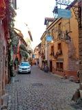 为圣诞节装饰的小城市史特拉斯堡-阿尔萨斯,法国 免版税库存图片