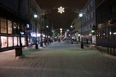 为圣诞节装饰的街道 图库摄影