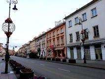 为圣诞节装饰的Nowy Swiat街道 免版税库存图片