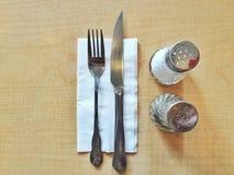 为在用餐的美味的膳食准备 免版税库存图片