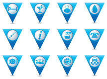 为在被设置的蓝色尖的象服务 免版税库存照片