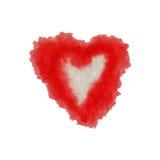 为在水彩样式的华伦泰s天导航心脏 在白色背景的手拉的各种各样的心脏 免版税库存图片
