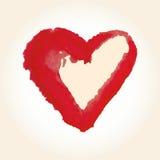 为在水彩样式的华伦泰s天导航心脏 在白色背景的手拉的各种各样的心脏 库存图片