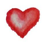 为在水彩样式的华伦泰s天导航心脏 在白色背景隔绝的手拉的各种各样的心脏 库存图片